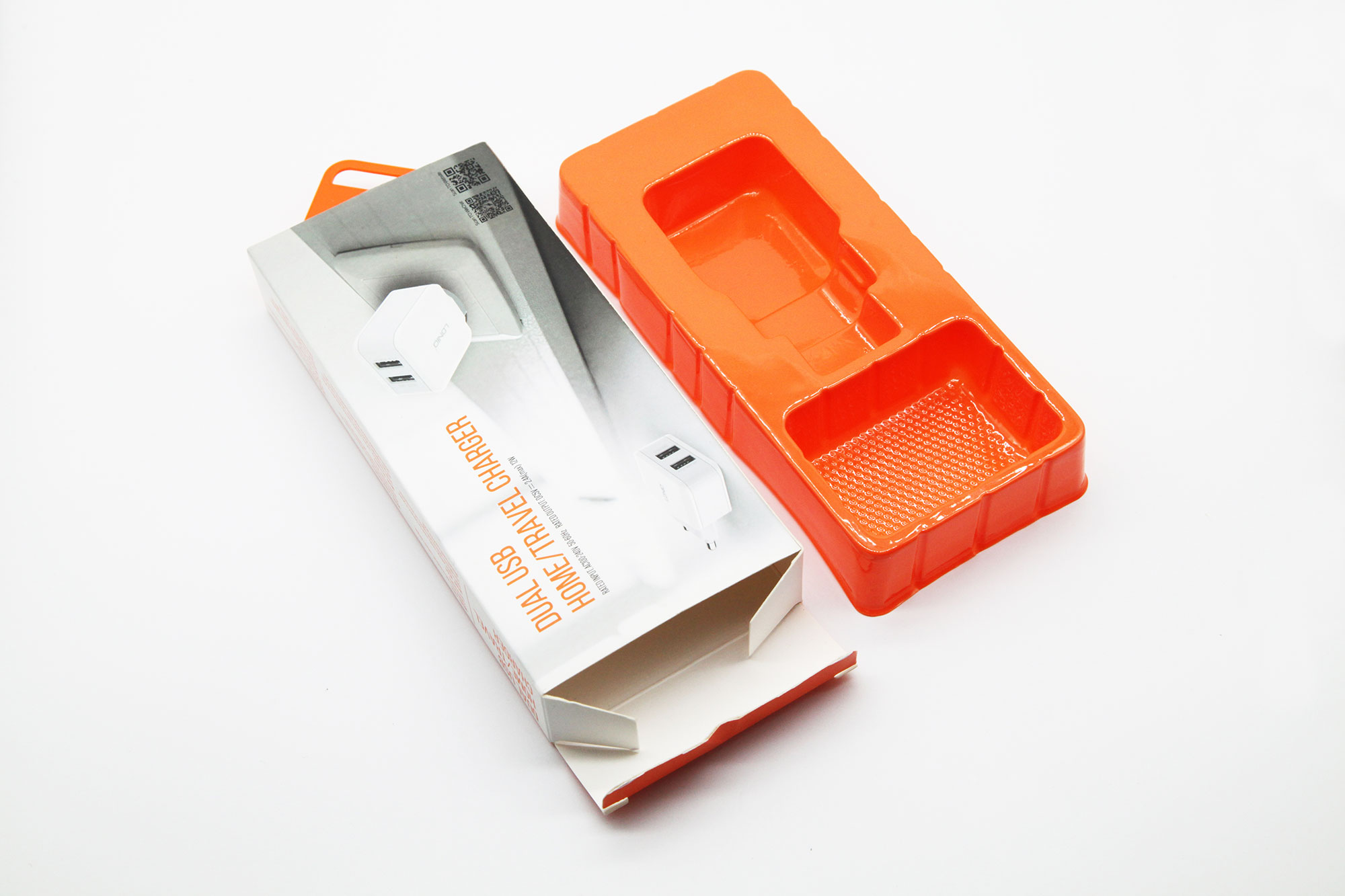 Phone charger packaging box